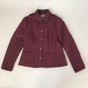 Burberry puffer jacket size XL maroon/burgundy